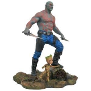 Figurine Drax et Baby Groot 25cm